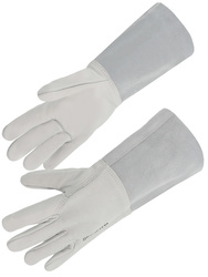 All cow grain leather glove. 15 cm splitleather cuff.