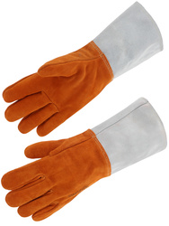 All cow split leather glove. Heat resistant. Fully fleece lined.