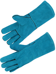 Safety glove. All cow split leather. Fully coton lined. 35 cm.