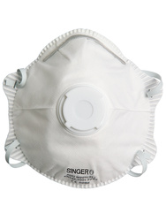 Respirator. FFP2 NR D Standard with valve (+ Dolomite). Box of 10 pieces.