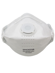 Horizontal fold-flat valved respirator FFP2 NR D (+ Dolomite). Box of 20 pieces.