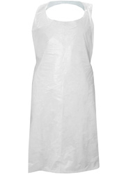 Single use clear polyethylene apron. By1000 pieces.