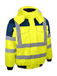 High visibility bomber jacket.
