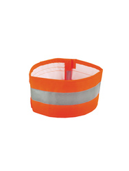 High visibility polyester armband. Pu coated.