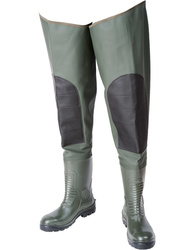 High thigh safety boots. Heavy P.V.C (700 gsm). Height 90 cm. S5 SRC.