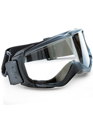 Safety goggle with comfortable foam seal. Clear anti-fog wide lens.