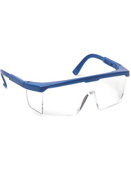 Safety spectacle. Adjustable temples length. Clear lens.