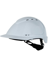 A.B.S vented safety helmet. 8 points. Ratchet easy adjustment.