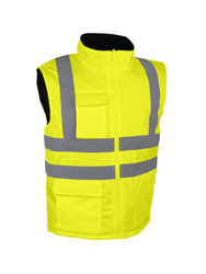 High visibility jacket. Polar fleece lining.