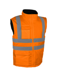 High visibility jacket. Polar fleece lined.