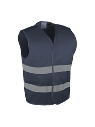 Vest with retro-reflective tapes.