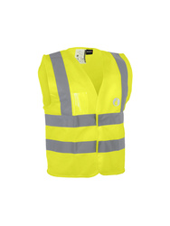 High visibility child vest. 100% polyester.