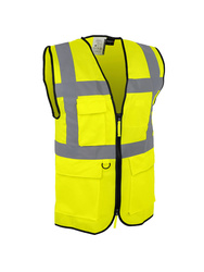 Multi-pockets high visibility vest withback opening