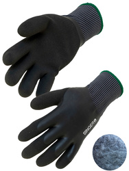 Seamless knitted glove. Double latex coating. Acrylic lined