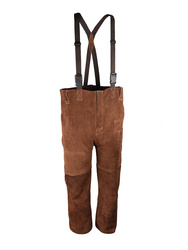 Wlelding bib pantBrown cow split leather