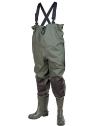 Chest safety wader. Heavy P.V.C. 700 gsm. 143 cm height. S5 SRC.